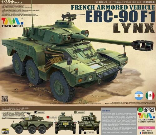 Tigermodel TG-4632 French Armored Vehicle ERC-90F1 Lynx