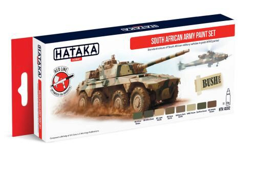 Hataka AS92 Airbrush Farbset (6 pcs) South African Army paint set