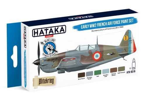 Hataka BS16 Enamel Farbset Set (6 pcs) Early WW2 French Air Force paint set