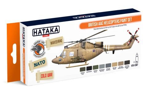 Hataka CS87 Acryl Farbset 8 pcs) British AAC Helicopters paint set