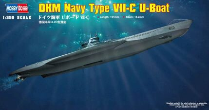 Hobby-Boss 83505 1/350 DKM Type VII-C U-Boot