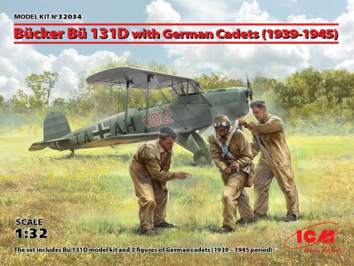 ICM 32034 Bücker Bü 131D w.German Cadets(1939-45) Limited