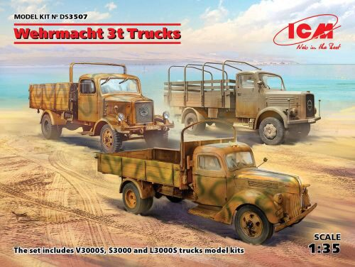 ICM DS3507 Wehrmacht 3t Trucks (V3000S, KHD S3000, L3000S)