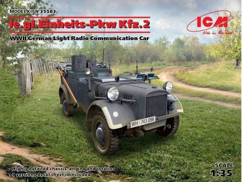 ICM 35583 le.gl.Einheitz-Pkw KFZ.2,WWII GermanLigh Radio Communication Car