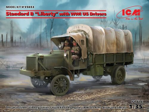 ICM 35653 Standard B Liberty with WWI US Drivers