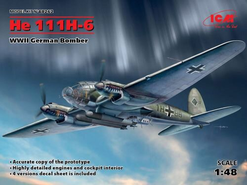 ICM 48262 He 111H-6, WWII German Bomber