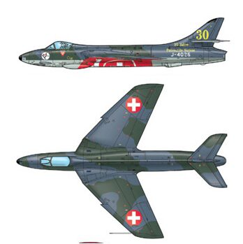 Italeri 2772 HUNTER F.6/FGA.9 Schweizer Version