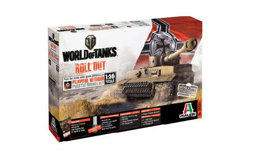 Italeri 56501 World of Tanks 1:56 - Pz.Kpfw.VI TIGER I