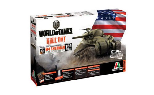 Italeri 56503 World of Tanks 1:56 - M4 SHERMAN