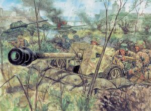 Italeri 6879 WWII German PAK40 AT gun w/servant