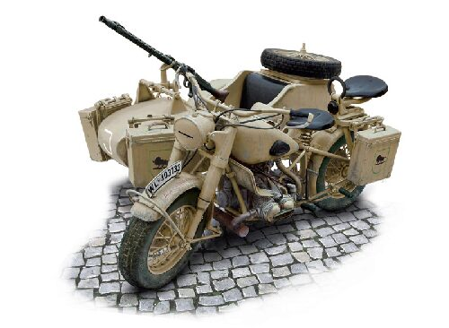 Italeri 7403 German Military Motorcycle with side car