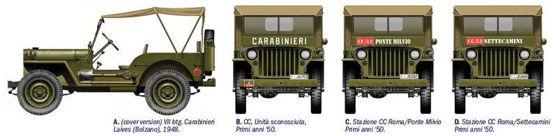 italeri 6355 willys jeep 1 4 ton 4x4 arma dei carabinieri. Black Bedroom Furniture Sets. Home Design Ideas