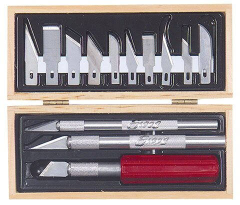 Excel 444282 Hobby Knife Set Holz