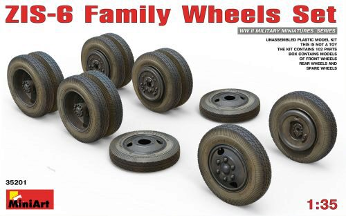 MiniArt 35201 ZIS-6 Family Wheels Set