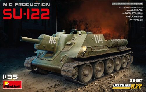 MiniArt 35197 SU-122 (Mid Production)w/Interior Kit
