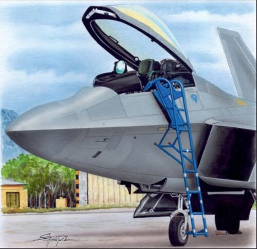 Plus model AL4085 Ladder for F-22