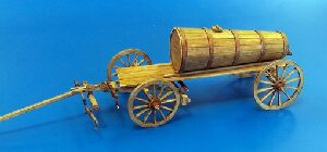 Plus model 428 Hay wagon with wooden tank