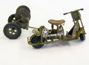 Plus model 438 U.S. airborne scooter with reel