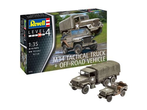 Revell 03260 M34 Tactical Truck + Off-Road Vehicle