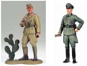Tamiya 25154 WWII Wehrmacht Offizier & Africa Corps Tank Crewma