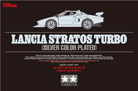 Tamiya 25418 1/24 Lancia Stratos Turbo (Silver Plated)