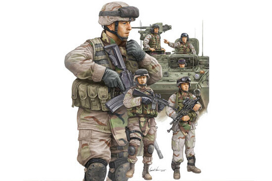 Trumpeter  00424 1/35 Moderne US-Army, Infante