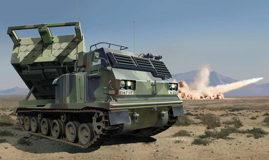 Trumpeter 01049 M270/A1 Multiple Launch Rocket System-US
