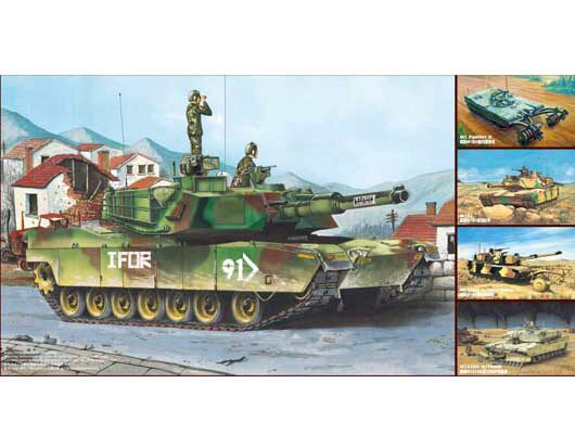 Trumpeter  01535 1/35 M1A1/A2 Abrams 5 in 1