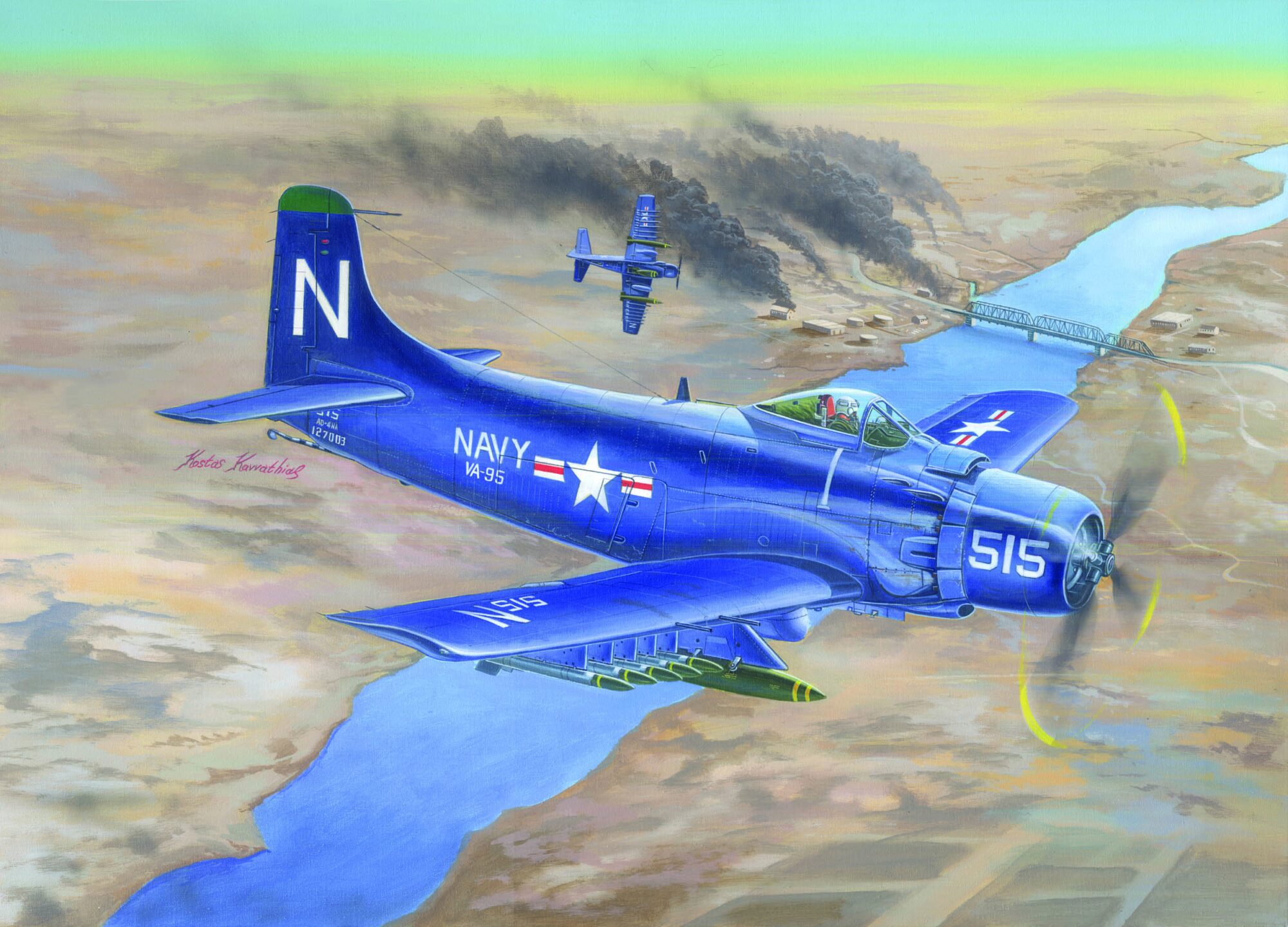 Trumpeter  02252 1/32 A1D AD4 Skyraider