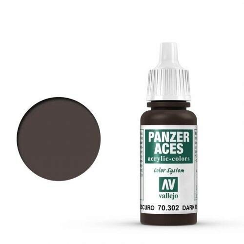 Vallejo 70302 Panzer Aces dunkler  Rost, 17ml