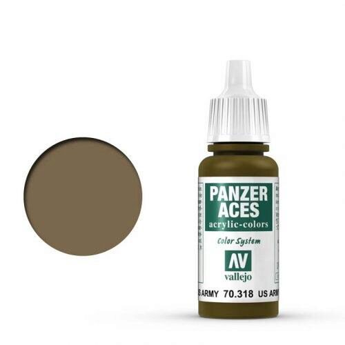 Vallejo 70318 Panzer Aces US-Army Panzersoldat, 17 ml
