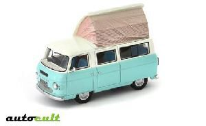 Autocult 09002 Commer Dormobile Coaster, hellblau-weiss