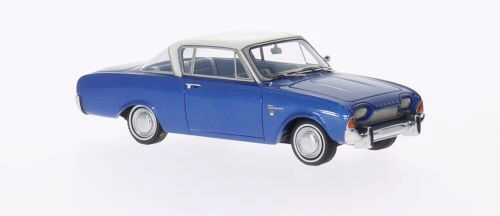 NEO 186073 Ford Taunus 17M P3 Coupe metallic-blau/weiss