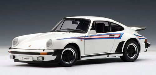Premium CassiXXS 213289 Porsche 911 Turbo Martini Edition, weiss