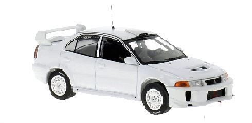 IXO 213955 Mitsubishi Lancer EVO V Rally Spec, matt-weiss