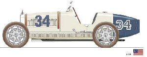 CMC M-100-006 Bugatti T35, USA, Limited Edition 500 pcs..