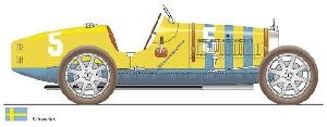CMC M-100-011 Bugatti  T35, Sweden, Limited Edition 500 pcs.