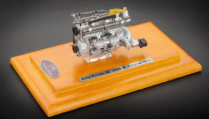 Cmc M 131 Alfa Romeo 8c 2900 B 1938 Engine Including Showcase