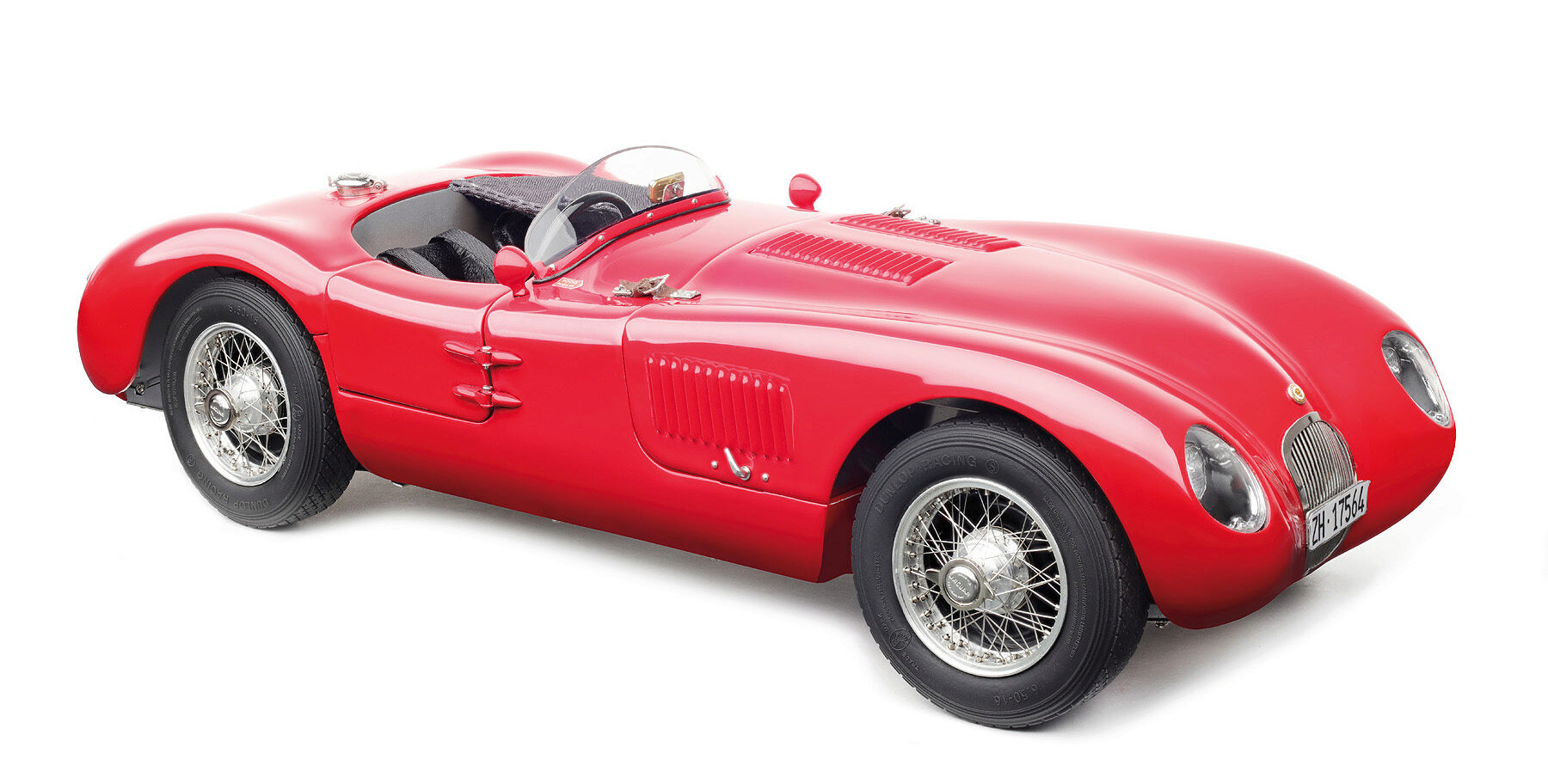 CMC M-193 Jaguar C-Type, (red) actual condition, Christian Jenny, Limited Edition 1,000 pcs.