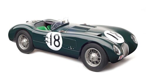 CMC M-195 Jaguar C-Type,1953, (British Racing Green) 24H France WINNER #18 Tony Rolt / Duncan Hamilton, Jaguar racing team, Limited Edition 1,500 pcs.