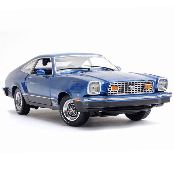 Greenlight 12868 Ford Mustang II Mach 1 1976 Blue and Black