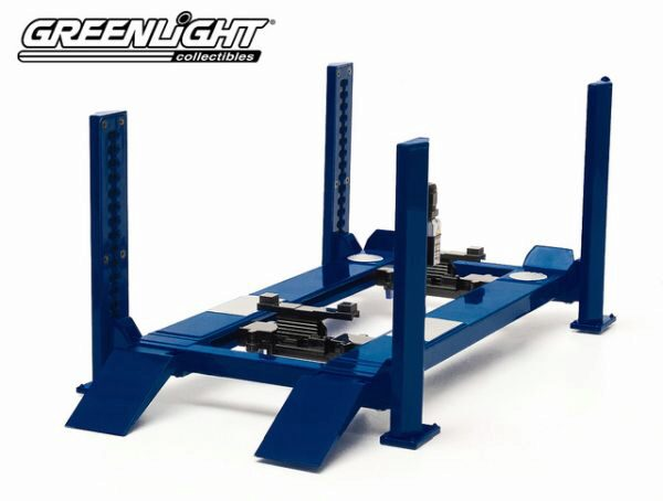 Greenlight 12884 Four-Post Lift blau