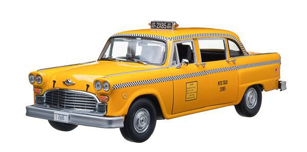 Greenlight 12887 Phoebe Buffay's 1977 Checker Taxi Cab