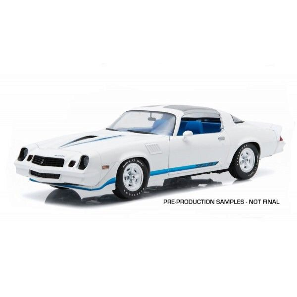 Greenlight 12903 1979 Chevy Camaro Z/28 white w/blue stripes