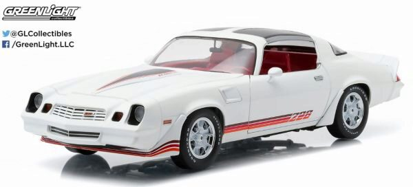 Greenlight 12906 1981 Chevy Camaro Z/28 white w/red stripes