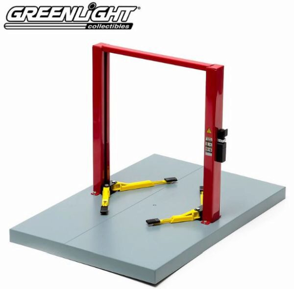 Greenlight 12916 Two-Post Lift, red