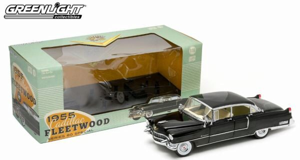 Greenlight 12923 1955 Cadillac Fleetwood black