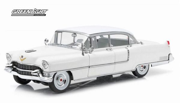 Greenlight 12936 1955 Cadillac Fleetwood Series 60 white