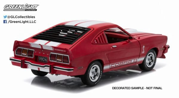 Greenlight 12940 1978 Ford Mustang II Cobra II red/white stripes