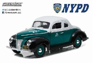 Greenlight 12972 1940 Ford Deluxe Coupe NYPD